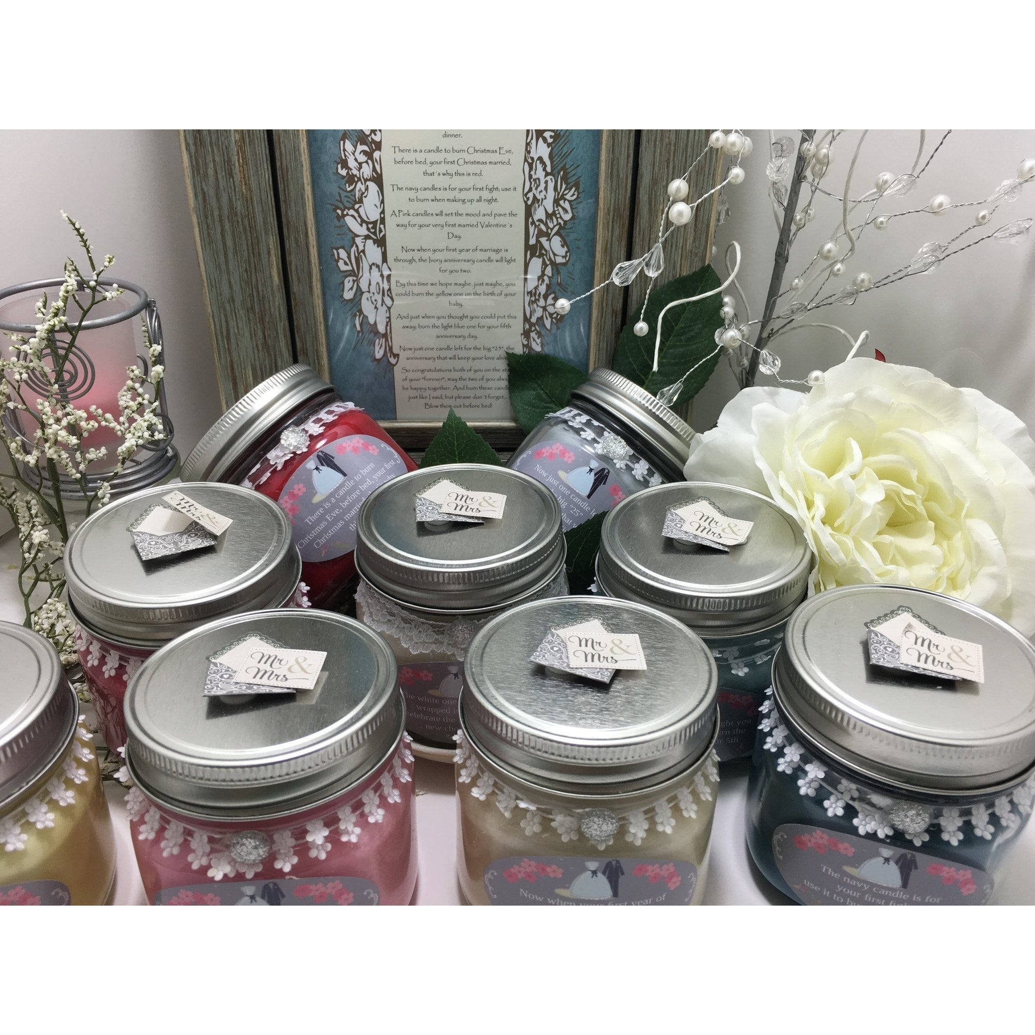 Wedding & Shower Party Natural Hand Poured Soy Candles & Melts -  - Bella-Mia Naturals All Natural Soy Candles & Lip Balms - 24