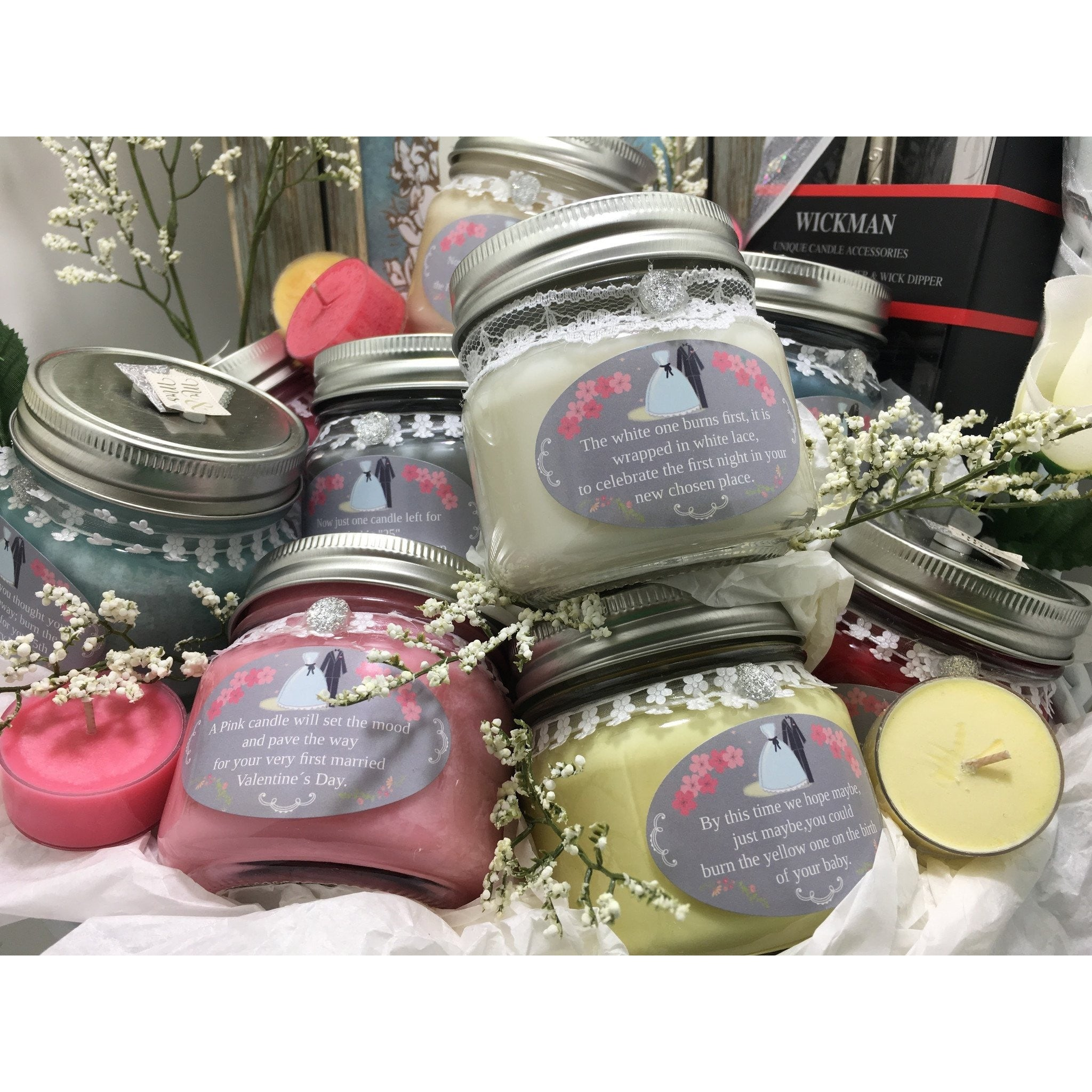 Wedding & Shower Party Natural Hand Poured Soy Candles & Melts -  - Bella-Mia Naturals All Natural Soy Candles & Lip Balms - 28