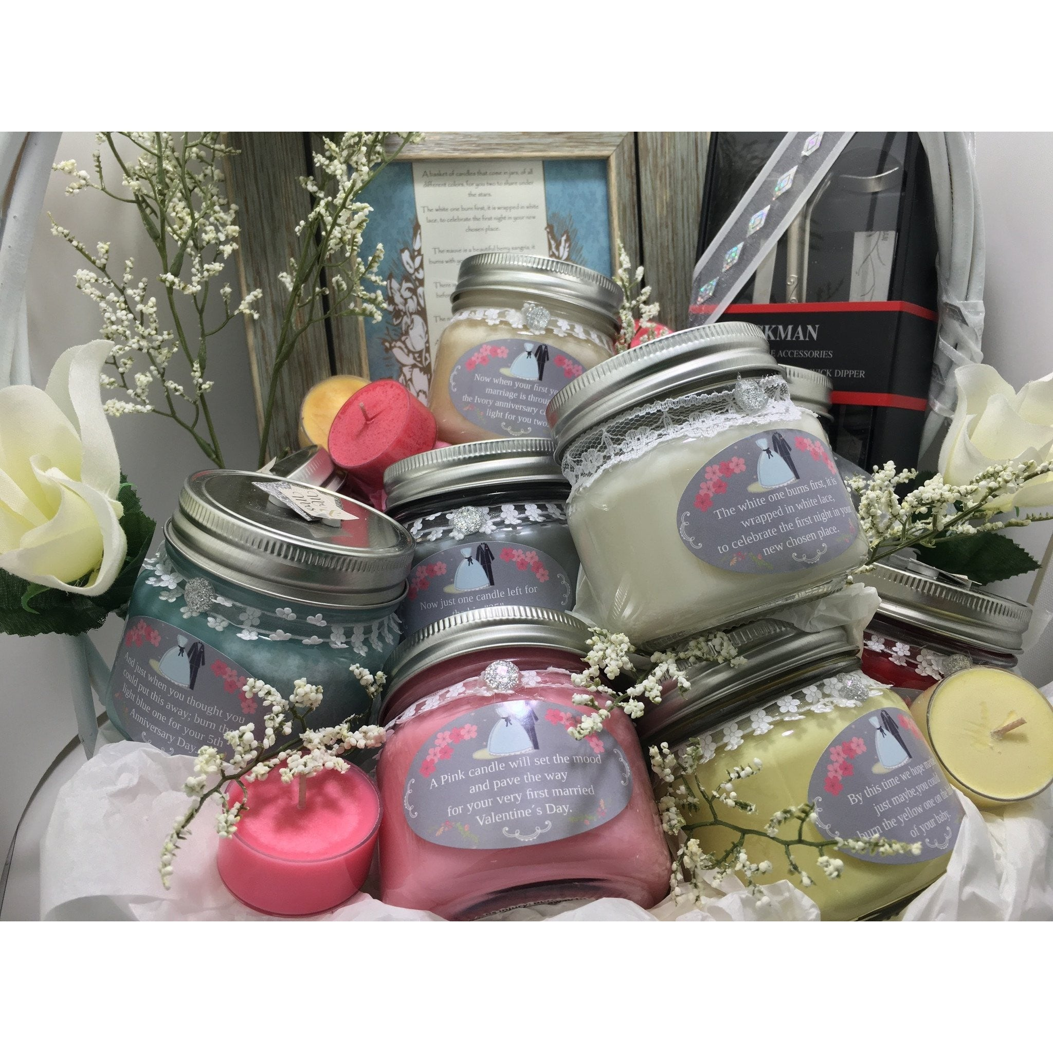 Wedding & Shower Party Natural Hand Poured Soy Candles & Melts -  - Bella-Mia Naturals All Natural Soy Candles & Lip Balms - 29