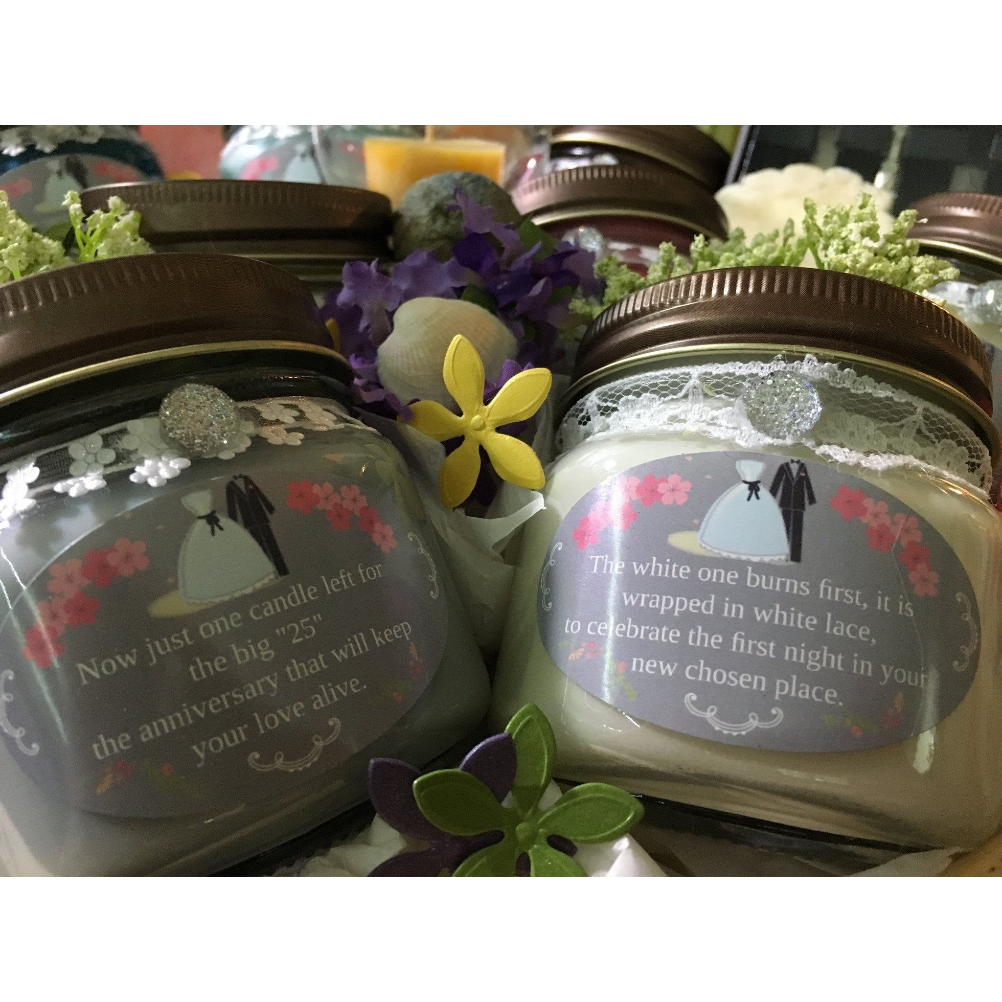 Wedding & Shower Party Natural Hand Poured Soy Candles & Melts -  - Bella-Mia Naturals All Natural Soy Candles & Lip Balms - 4