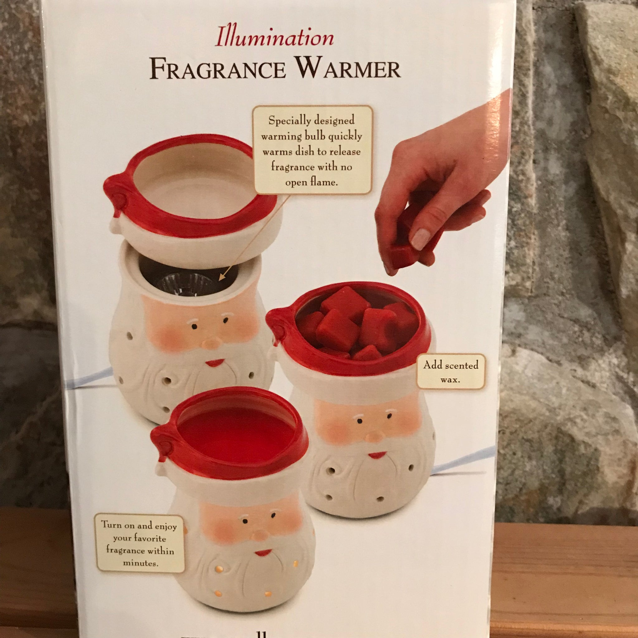 Santa Full Size Ceramic Electric Wax Fragrance Warmer by Candle Warmers