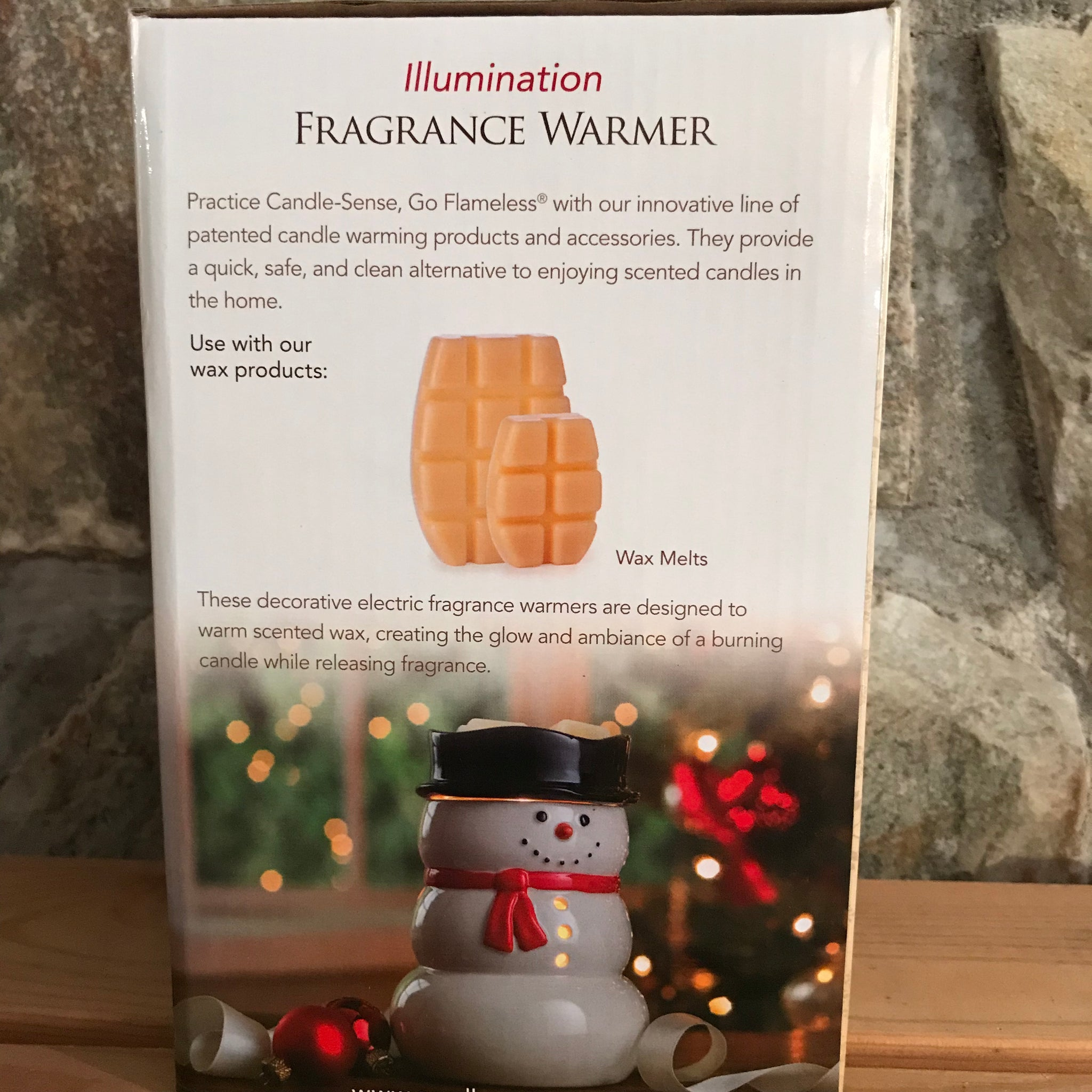 Snowman Full Size Ceramic Electric Wax Fragrance Warmer by Candle Warmers