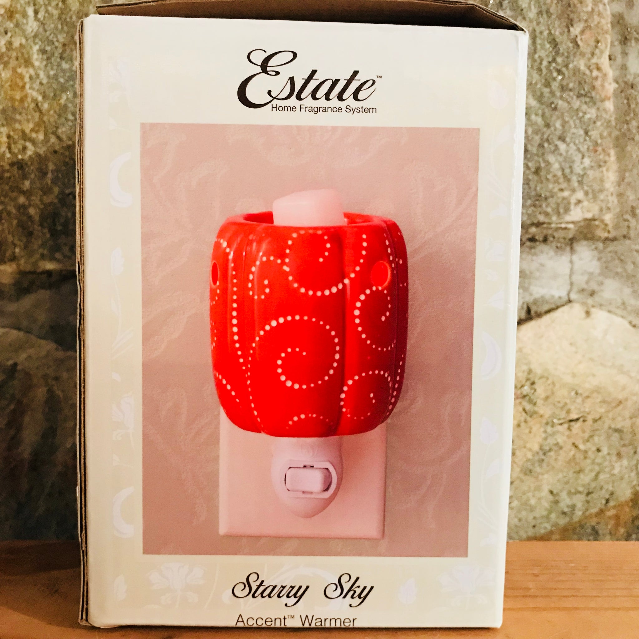 Starry Sky/Pumpkin Accent Plug-In Ceramic Electric Wax Warmer by Estate