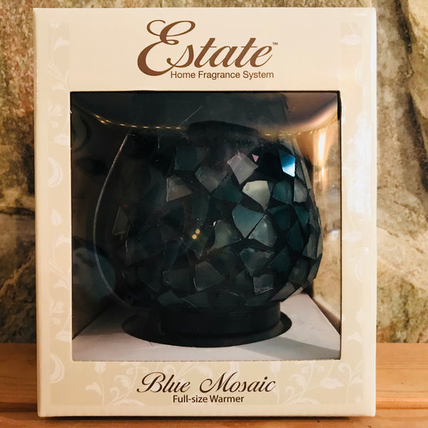 Blue Mosaic Full Size Electric Wax Warmer by Estate