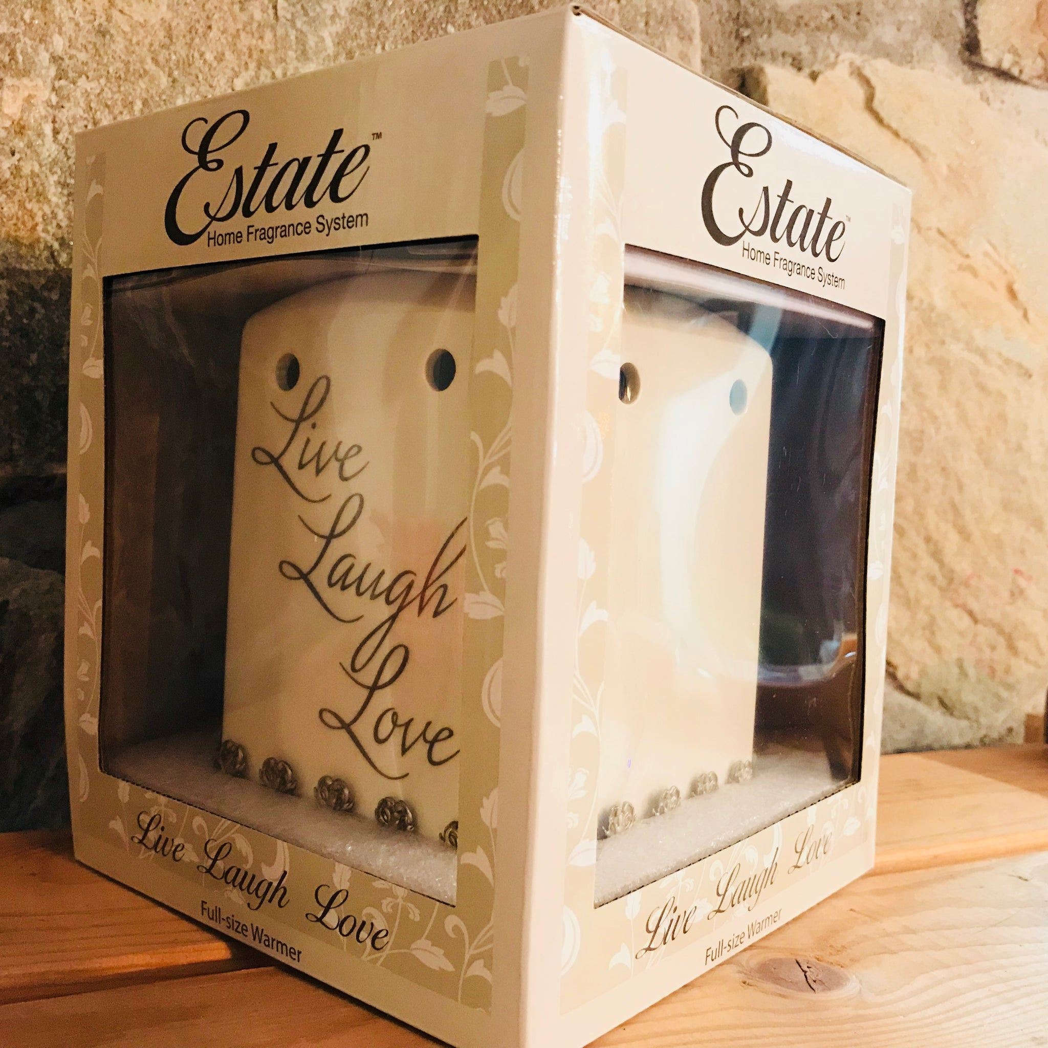 Live Laugh Love Ceramic Electric Wax Warmer by Estate