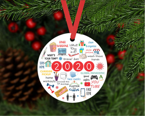 2020 Ornament Funny Quarantine Ornament 2020 Pandemic Ornament A Year To Remember Covid2020 Christmas Ornament Covid Ornament 2020 Funny