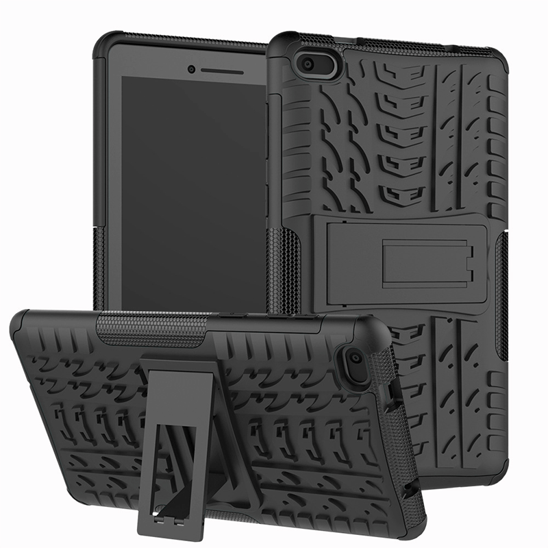 "TPU Shockproof Hybrid Tablet Stand Hard Case Cover For Lenovo Tab E7 7.0"" 7104F"