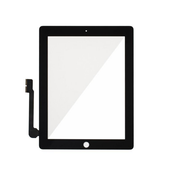 Digitizer Touch Screen with Adhesive Tape for iPad 3 4 [Standard Plus / Black]