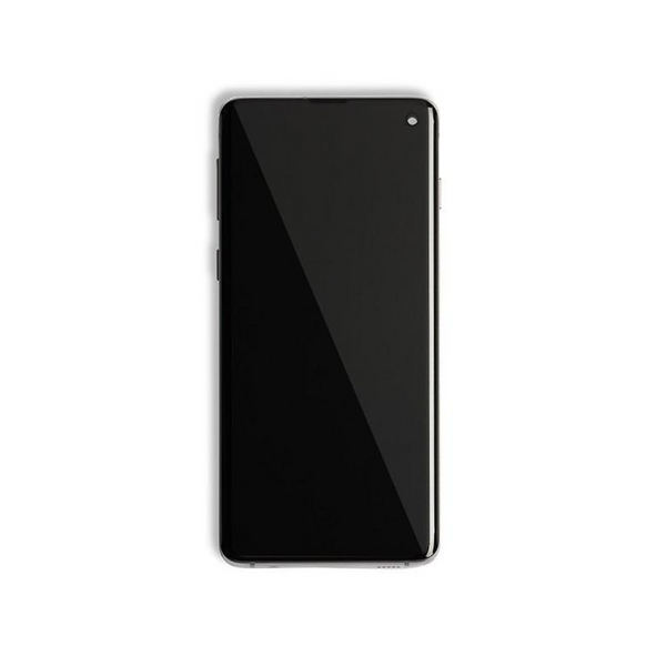 LCD and Digitizer Touch Screen Assembly with Frame for Samsung Galaxy S10 G973 [Premium / Black]
