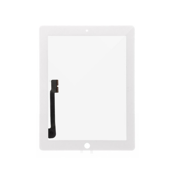 Digitizer Touch Screen with Adhesive Tape for iPad 3 4 [Standard Plus / White]