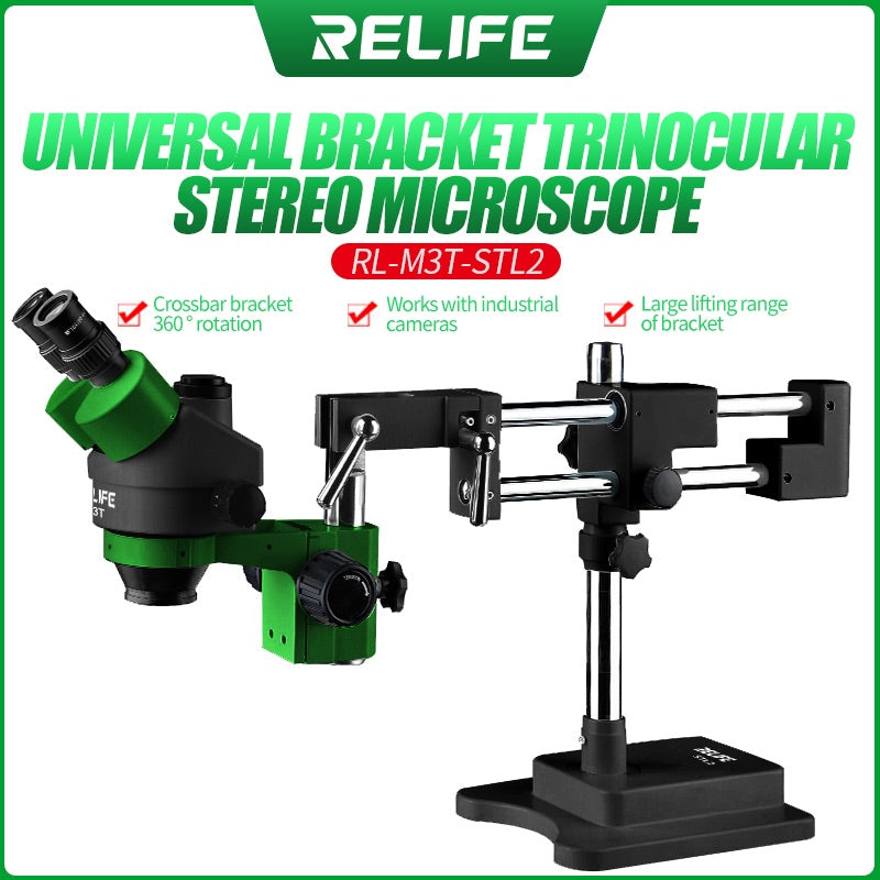 RELIFE RL-M3T-STL2 Trinocular HD Stereo Microscope