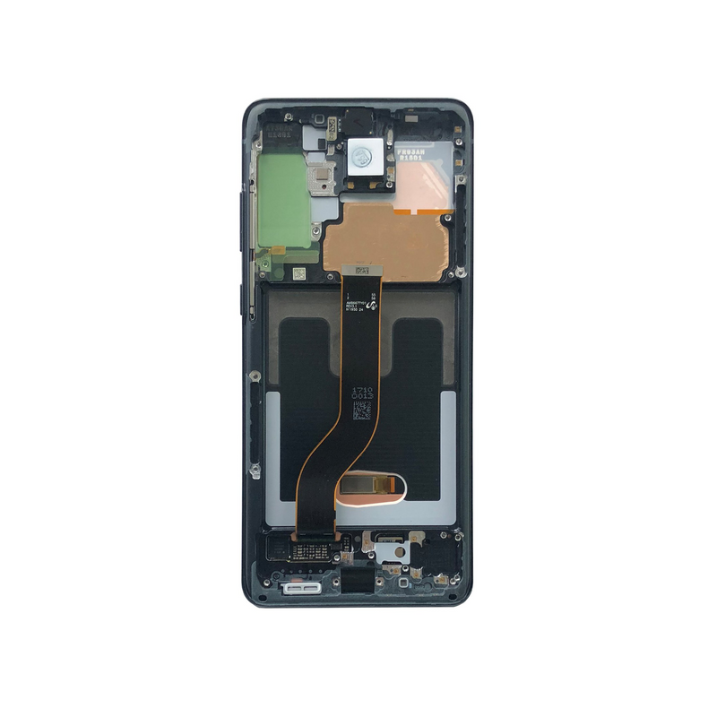 LCD and Digitizer Touch Screen Assembly with Frame for Samsung Galaxy S20 Plus [Original / Black]
