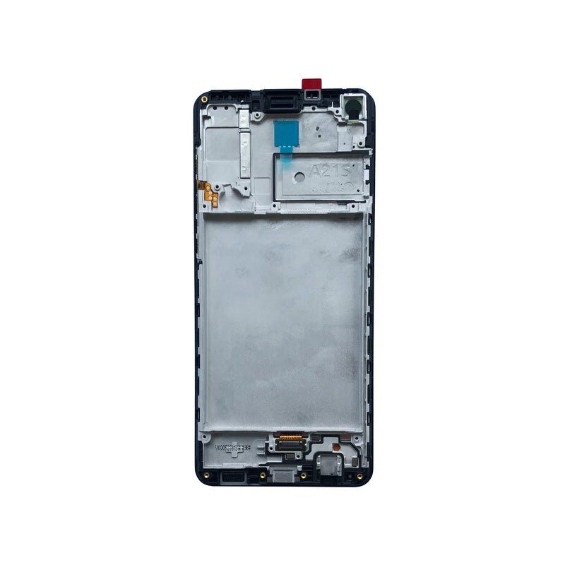LCD and Digitizer Touch Screen Assembly with Frame for Samsung Galaxy A21s A217 [Original / Black]