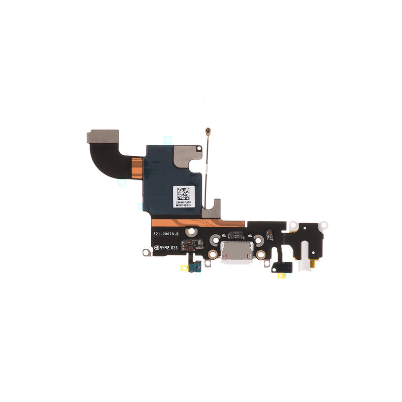 "Charging Port Flex Cable for iPhone 6S 4.7"" [Standard Plus / White]"
