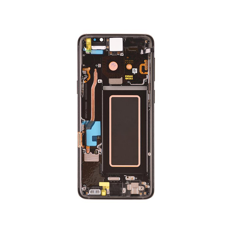 LCD and Digitizer Touch Screen Assembly with Frame for Samsung Galaxy S9 G960 [Premium / Black]