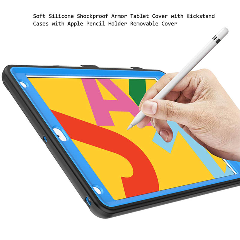 "Hybrid Shockproof Hard Stand Case Cover With Pencil Holder For iPad 10.2"" 2019"