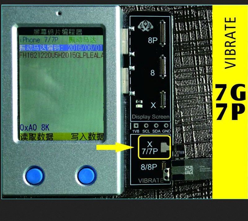 LCD Screen EEPROM Programmer Tool for iPhone 7 / 7P / 8 / 8P / X
