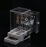 Acrylic Earring Display Holder with Drawers