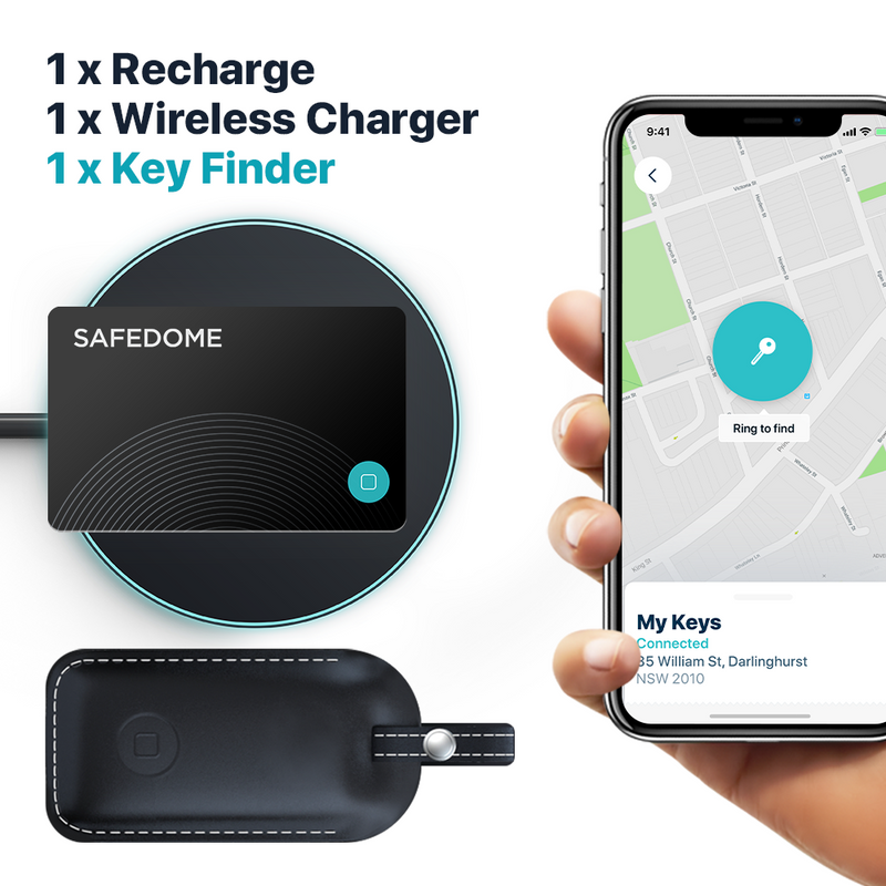 Safedome Recharge & Key Finder Combo Pack