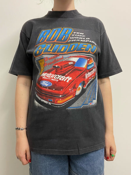 Bob Glidden 10 Time World Champion Drag Racing Vintage Tee