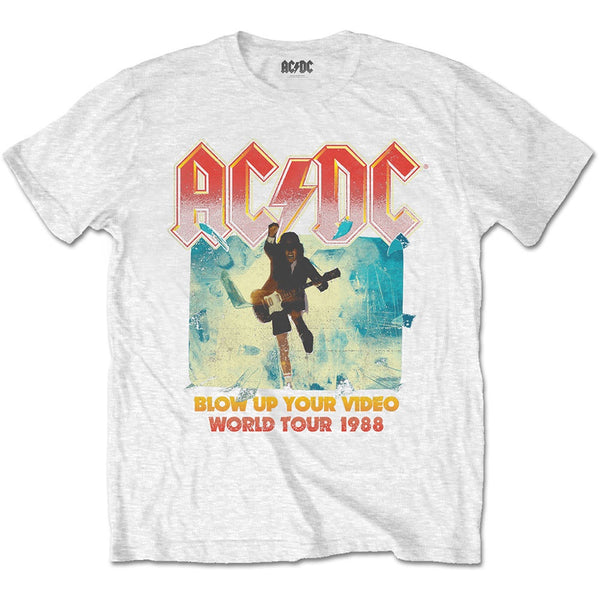 AC-DC Blow up your Video White Tee