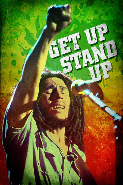 Bob Marley Get Up Stand Up Poster