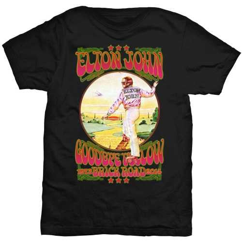 Elton John Goodbye Yellow Brick Road Tee
