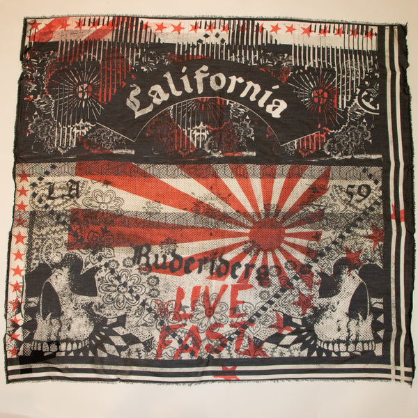 Live Fast California Scarf
