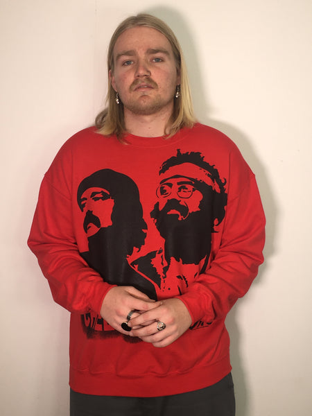 Cheech and Chong Stencil Red Sweatshirt