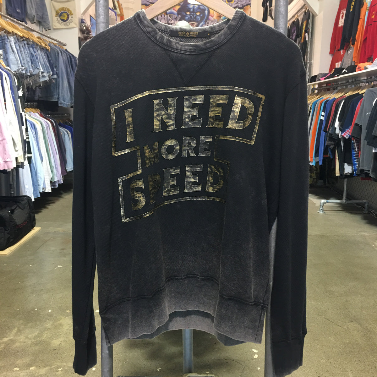 Need More Speed Sweatshirt Road Black