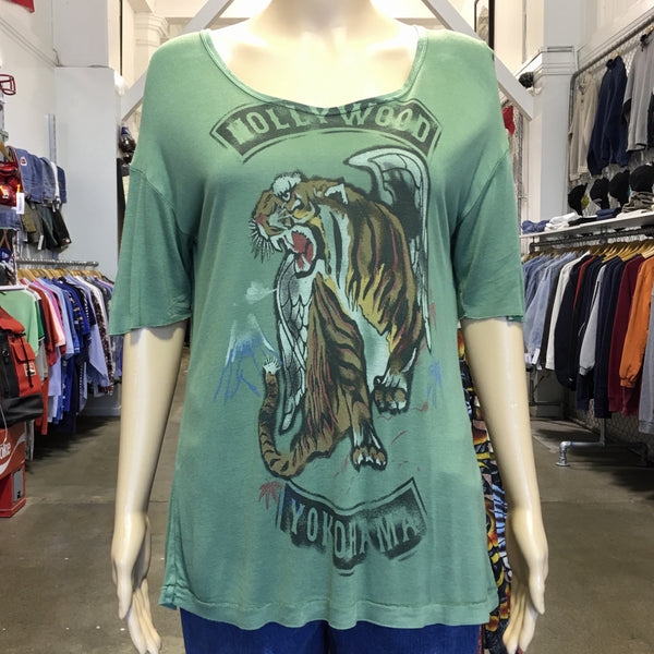 Hollywood Yoko Tank Tee Green S
