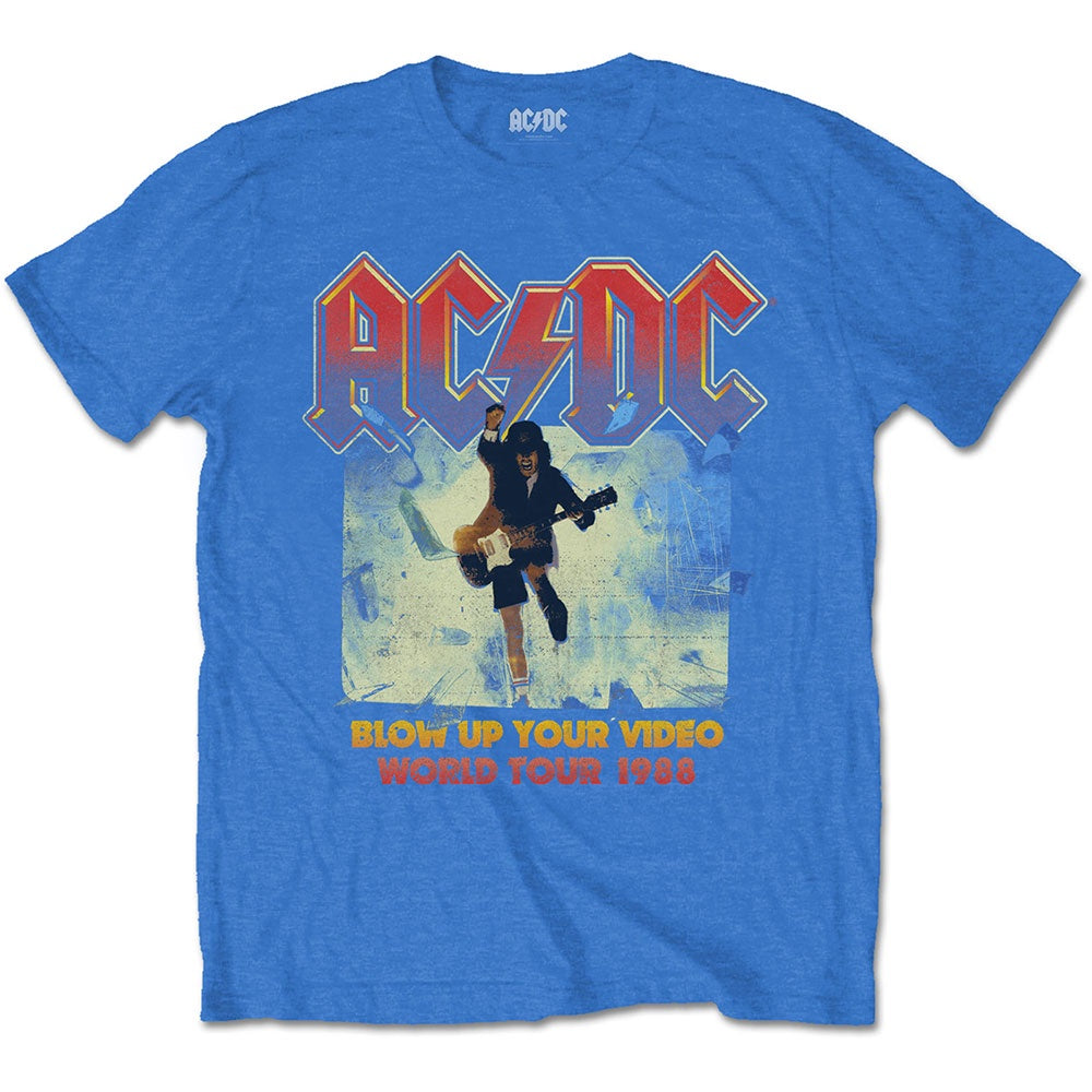 AC-DC Blow up your Video Blue Tee