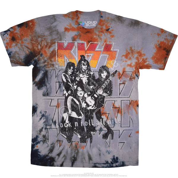 Kiss Rock and Roll All Nite Tye-Die Tee