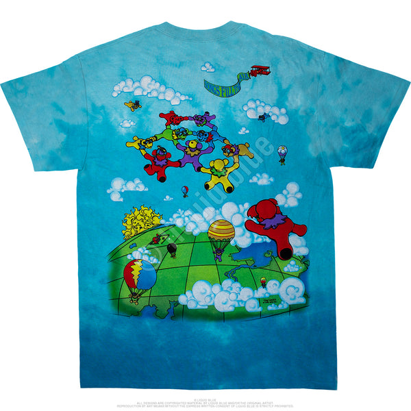 Grateful Dead Parachuting Bears Tie-Dye Tee