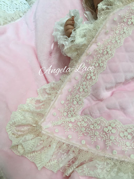 Angela Lace Teddy Blanket