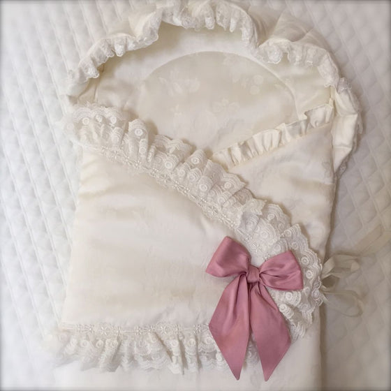 Angela Lace Silk Baby Pouch
