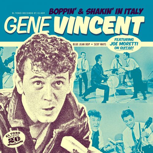 VINCENT, GENE|BOPPIN' AND SHAKIN' IN ITALY EP