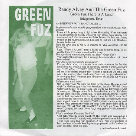 Alvey, Randy - Green Fuz