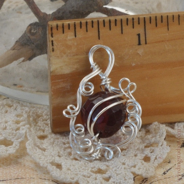 Red Glass Pendant (Magpie Rummage Sale)