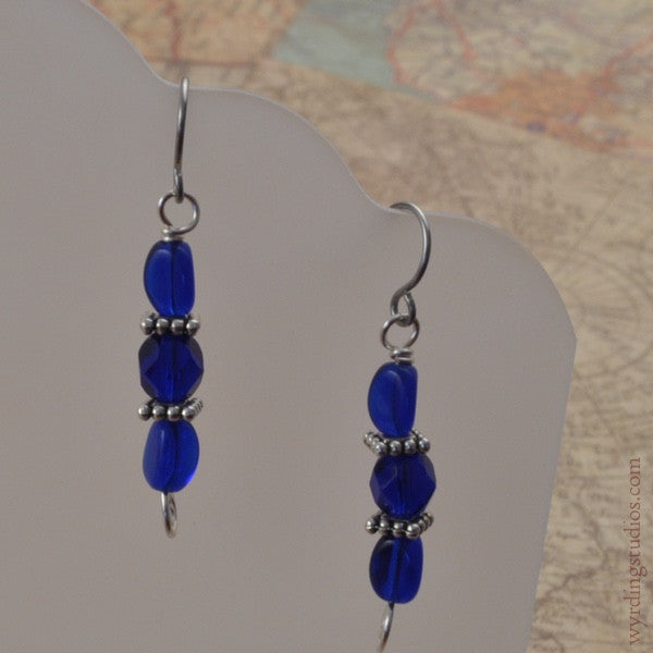 Blue Earrings (Magpie Rummage Sale)