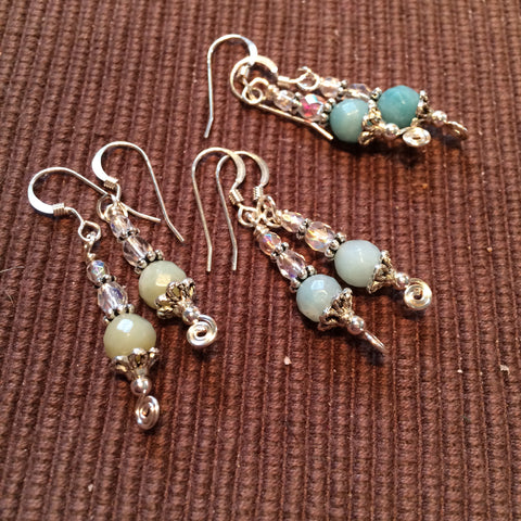 Custom amazonite earrings