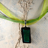 Dichroic Glass Pendants