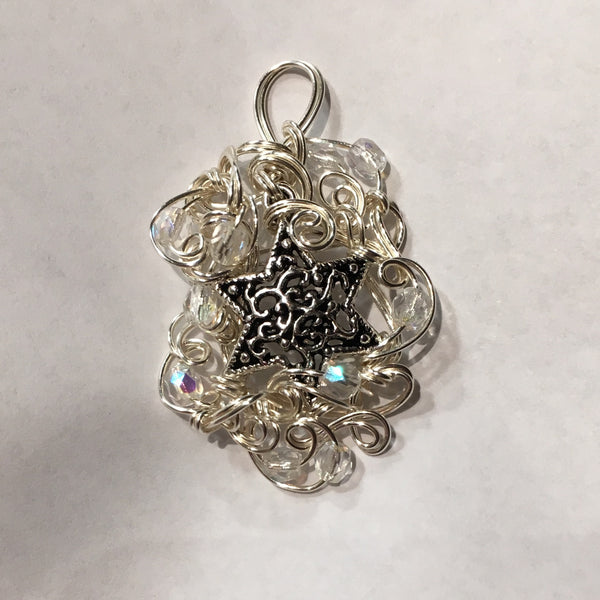 Filigree Star of David pendant