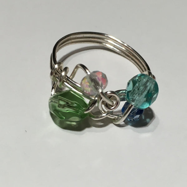 Blue and Green Cocktail Ring