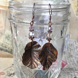 Personal Collection: foldformed leaves with mauve