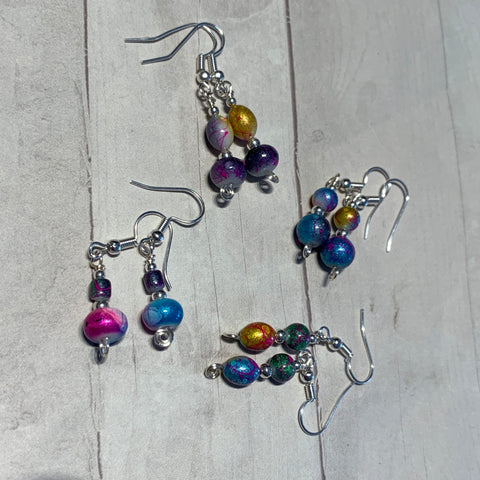Throwing Paint at the Problem - surprise mini earrings