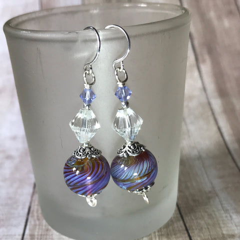 Tiny Evil Genius Earrings: lampwork glass