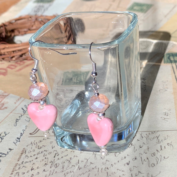 Tiny Evil Genius Earrings: Blooming Hearts