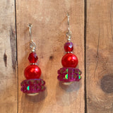 "Tiny Evil Genius Earrings: ""call it something about fire"""