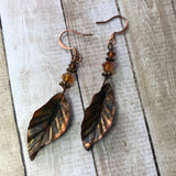 Personal Collection: foldformed leaves with copper crystal